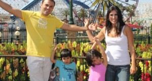 The Abedini family, who are American citizens, in happier times at Disney.