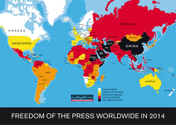 press freedom map