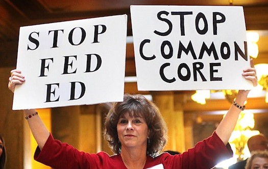 Teachers and parents descended on Topeka's Capitol recently to oppose implementation of Common Core.