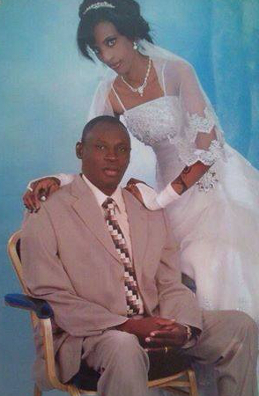 Wedding portrait of Mariem Ibrahim and Daniel Wani. Taken in December 2011.