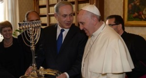 Pope Francis with Benjamin Netanyahu. Pope Francis will embark on a trip to Israel and Jordan next week.