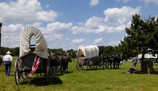 "Echoes of the Trail will draw thousands from across Missouri, Kansas, Oklahoma and Arkansas to relive the days when an ""infant message"" took four months by wagon train."