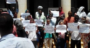 Protesters denounce the decision to hang a doctor for converting to Christianity