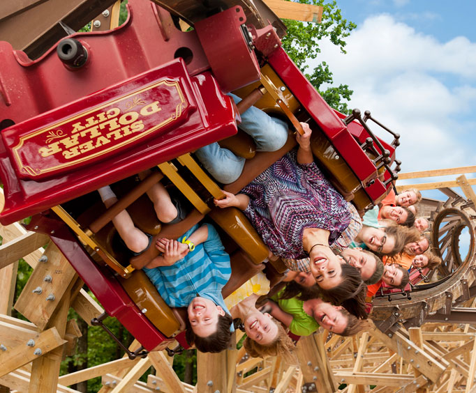 Branson usually has temperate falls so roller coaster rides, like Outlaw Run, provide summer fun in the fall foliage.