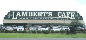 """Lambert's Cafe is beloved for one menu item over all others--its """"throwed rolls""""."""