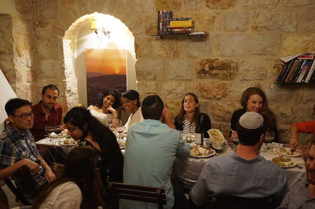 Through the website called Eatwith.com we scheduled a Shabbat meal with young Israelis. The girls counted this opportunity to visit with regular people one of the top picks for a trip. It was an opportunity to both ask and answer questions from inquisitive people from around the world.