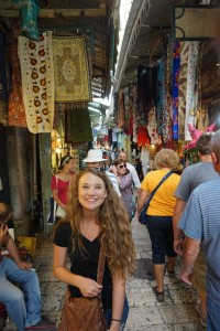 Emma was in her element in Israel's city markets.