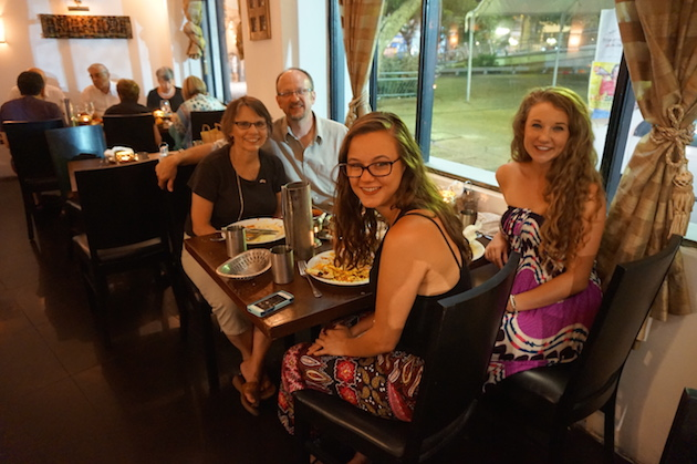 Israel is a true melting pot of cultures as Jews from around the world immigrate here to escape persecution. Here we enjoyed Indian cuisine in a candle lit restaurant.
