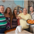 Our last meal in Israel was at the restaurant Dr. Shakshuka which is famous for its star menu item--Shakshuka. Pictured l. to r.: Mr. Benjamin Gad-Nali, director of Hosting Operations , Ministry of Tourism; Ministry Escort Zvika Abramovitch; Emma Widaman, Hannah Widaman, Anita Widaman, Dr. Shakshuka; Dwight Widaman.