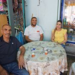Owner Mr. Salh, with son Fade and daughter Walaa. The Muslim family runs Aladdin's Restaurant in Caesarea. Our guide Moshe said it has the best falafel in all of Israel.