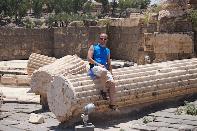 The earthquake that leveled the city, toppled these massive columns. They rest today exactly where they fell and are a good place for you to rest.