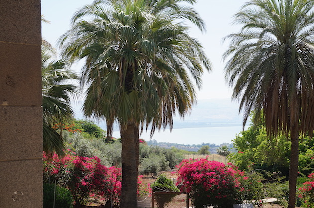 The beautiful grounds of the Church of the Beatitudes reflects the simplicity of Jesus' sermon on the mount which would have taken place nearby.