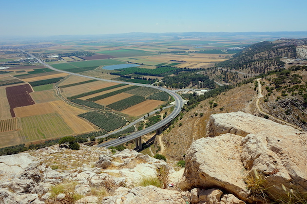 Mount of Precipice overlooks the Jezreel Valley. Israel's modern farming technology has made it a world leader in water conservation and agriculture. It annual donates millions of gallons of water to its Arab neighbor, Jordan