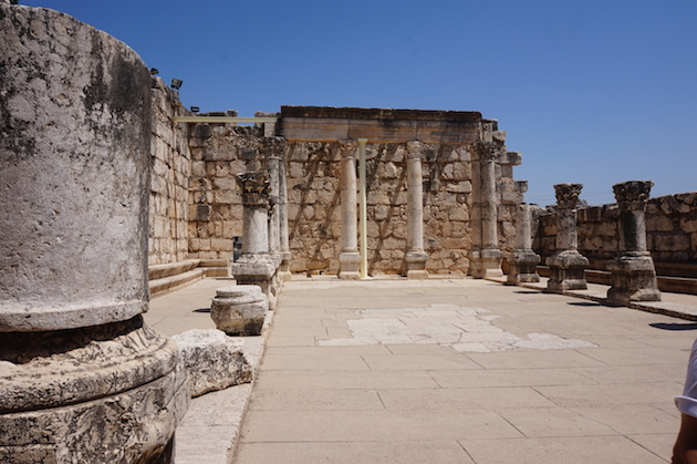 This Third Century is built on the foundations of the First Century structure Jesus taught in. Nearby has been discovered the remains of Peter's house.