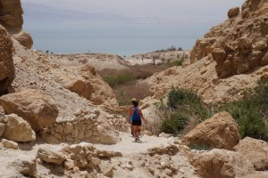 The hike down from the falls eventually leads to the Dead Sea.