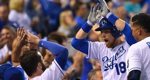 "Royals second baseman Ben Zobrist, ""by virtue of the providence of God, has ended up being a missionary in a very difficult mission field of professional sports,"" his pastor said. Kansas City Royals photo."