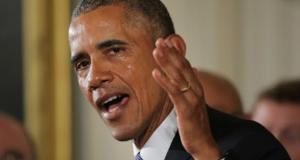 President Obama addresses gun violence in a Jan. 5 speech.