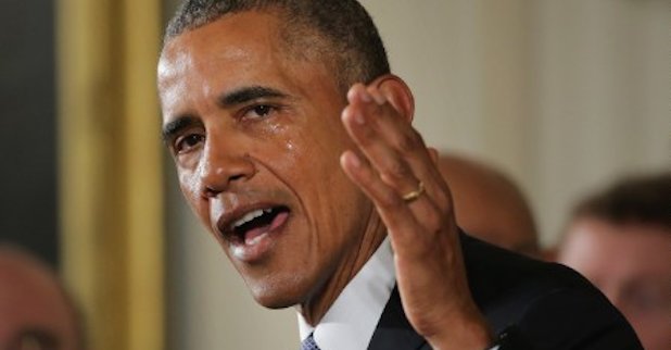 President Obama addresses gun violence in a Jan. 5 speech.