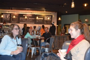 Young millennnials hang out at Black Dog Coffee