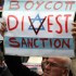 A Boycott, Divestment and Sanctions (BDS) protest against Israel. The movement to destroy Israel economically is based on false information and outright lies used by the groups and spread by the media. Photo Wikimedia Commons.
