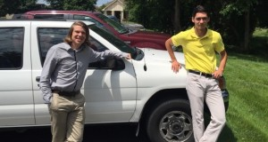 Calvin Beck (left), a  senior at Colorado Christian University, and Joseph High (right), a freshman at Lipscomb University in Nashville.