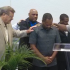 After he spoke, Kansas City Police Chief Daryl Forte received prayers from several pastors. Later, as the prayer event ended dozens joined hands on stage to pray for the police and the victims of violence.