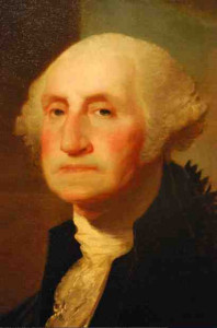 George Washington's portrait, by Gilbert Stuart, is familiar to Americans as the basis of the One Dollar Bill, and many school rooms.