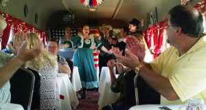The Kansas Belle Dinner Train is a favorite of area residents AND visitors to the area.