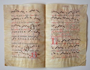 Antiphonal Leaves, Calligraphy on vellum, c. 1500s
