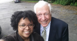 Senator Maria Chappelle-Nadal with conservative political activist Foster Friess. The two met to discuss a way forward that included civility.