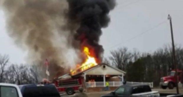 church-exploded