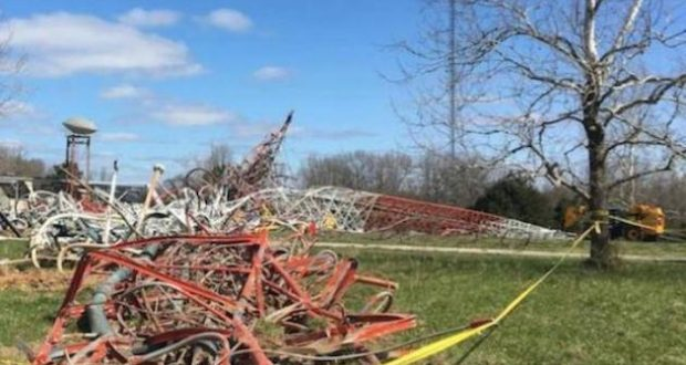 tv tower collapse missouri structures tallest