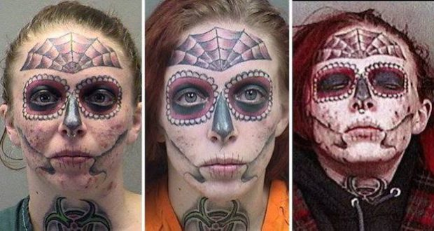 012503b6b Face tattoo keeps getting woman arrested - Metro Voice News