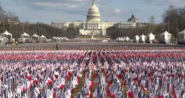 flags inauguration