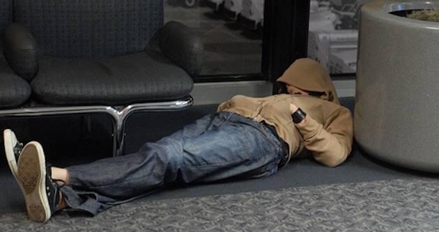 homeless airport